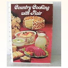 Country Cooking with Flair  Cook Book 1975