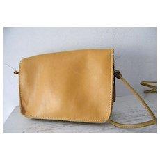 Vintage Cross Body Cordovan Leather Shoulder Bag Purse
