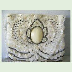 Moyna beaded White Bridal Purse Evening Shoulder Bag Mint