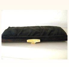 Black Faille Morris Moskowitz Clutch Handbag