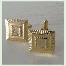 Stylized Square Goldtone Cufflinks