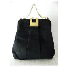 Black Wool Felt Handbag by G. D. K.