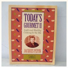 Signed Jacques Pepin Cookbook 1st Edition Public Television