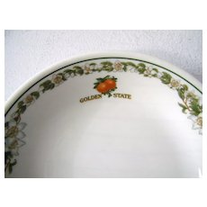 6 Vintage Golden State Southern Pacific Railroad China Bowls Oranges
