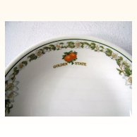 6 Vintage Southern Pacific Railroad China Golden State Bowls
