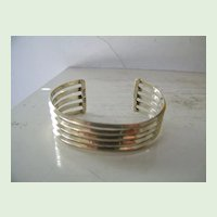 Mexican Sterling Silver Cuff Bracelet  28.2 Gram