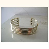 Mexican Sterling Silver Cuff Bracelet  28.2 Gram