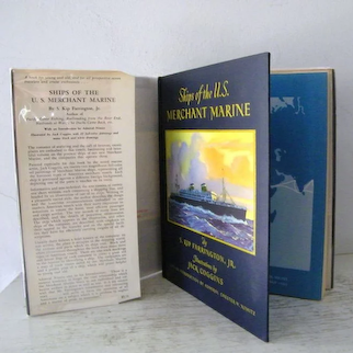 Ships of the U.S. Merchant Marine Signed 1st Edition Nautical