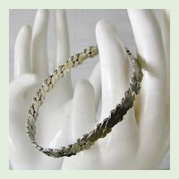 Taxco Sterling Silver Bangle Bracelet 16.2 grams