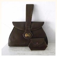 Vintage Mexcian Leather Handbag Swagger Handle