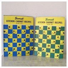 Sunset Kitchen Cabinet Recipes Volume 2 & Volume 3
