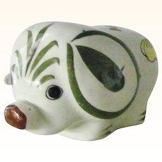 Tonala Elephant Mexican folk art pottery Signed