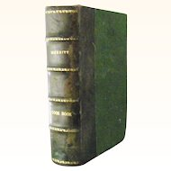 "Leather Bound  ""The Boston Cooking School Cook Book""  1919 by Fannie Farmer"