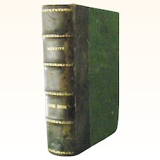 """Leather Bound  """"The Boston Cooking School Cook Book""""  1919 by Fannie Farmer"""