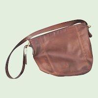 Vintage 13 inch Leather Coach Brown Hobo Shoulder Bag Purse
