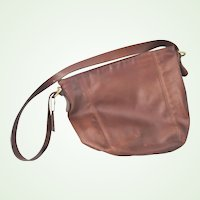Authentic vintage leather Coach Brown Hobo Shoulder Bag Purse