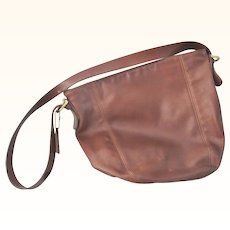 Authentic vintage Coach Brown Leather Hobo Shoulder Bag