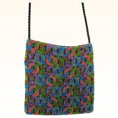 Silk Beaded Cross Body Handbag Shoulder Bag mint