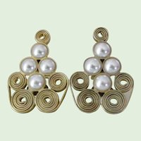 Particolari Signed Couture Earrings made in Italy