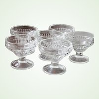 8 vintage Ribbed Sherbet Glasses Mint cond. Restaurant Ware