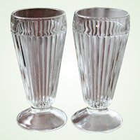 6  Ribbed Parfait Glasses 13 Glasses Available Restaurant Ware