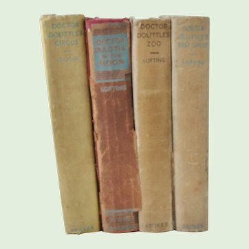 4 Doctor Dolittle Books 3 are First Editions