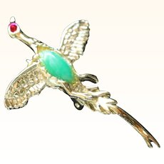 Mallard Duck Bird Brooch