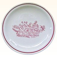 23 pieces Tepco  Restaurant Ware Dinner and Salad Plates Red Floral Garden Flowers