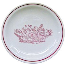 23 plates Tepco China Restaurant Ware Colonial Red Flowers