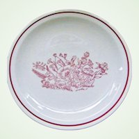 Tepco China 23 Dinner and Salad Plates  Restaurant Ware Dishes  Colonial Red Flowers