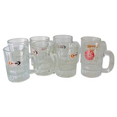 Ten Child size A&W Root Beer Glass Mugs Restaurant Ware