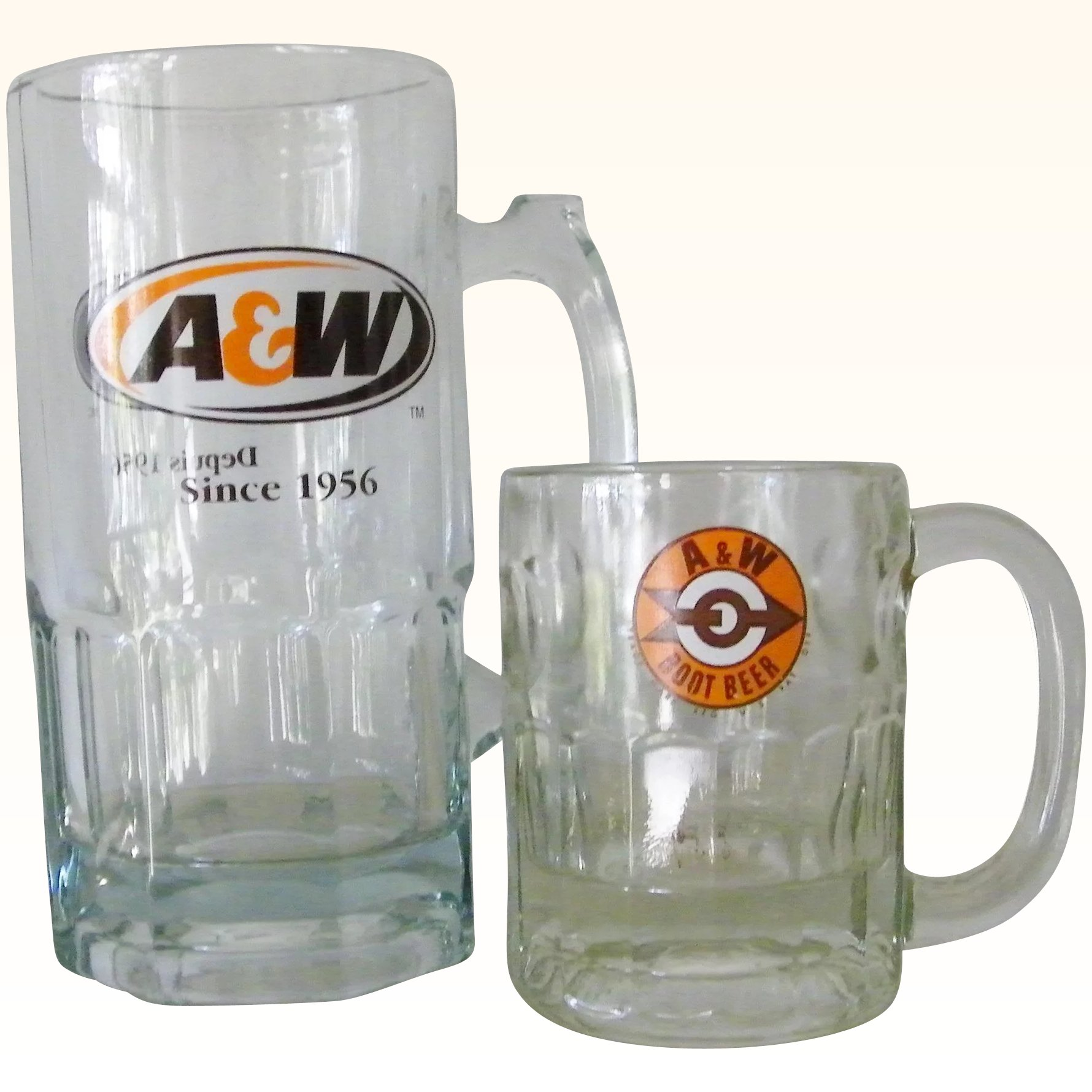 Two Extra Large A&W Glass Root Beer Mugs : Kitchengarden & Purses ...