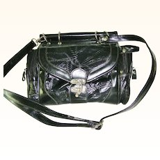 Black Patent Handbag convert Shoulder Bag