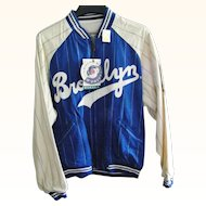 Reversible Mirage National League Baseball  Brooklyn Dodgers Jacket Size Large