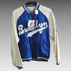 Reversible Mirage National League Baseball  Brooklyn Dodgers Jacket Size Large