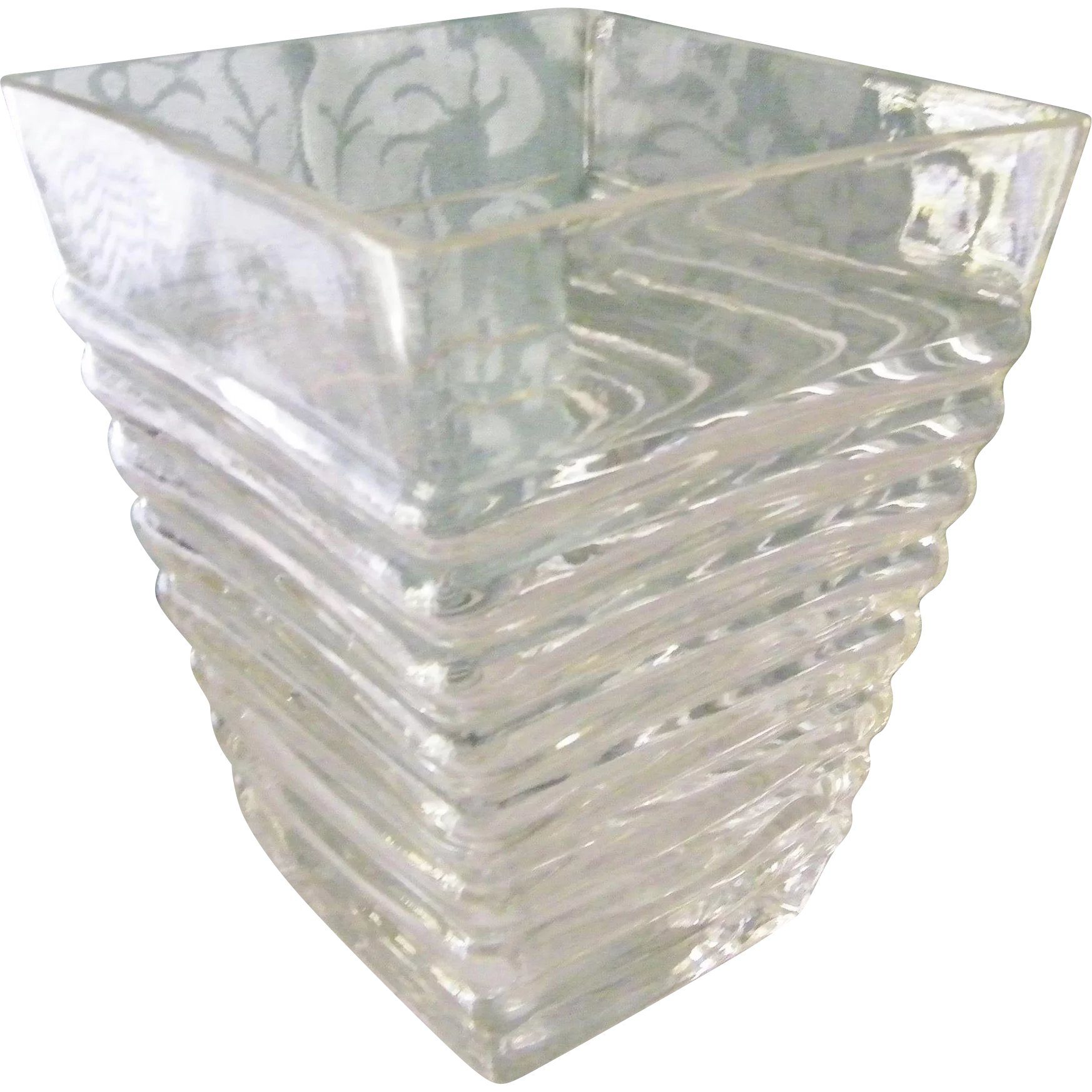clear twisted candle glass holder vase stem