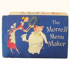 The Morrell Menu Maker Cookbook