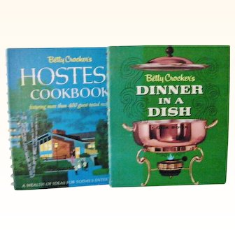 Two Betty Crocker First Edition, First Print Mid-Century Cook Books