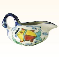 Amora Pottery Gravy Boat or Creamer Mexico Pottery Fish Motif