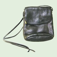 Libaire Black Swiss Leather Crossbody Purse shoulder bag Excellent