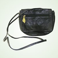 Libaire Black Leather Crossbody Handbag shoulder bag