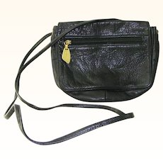 Libaire Black Leather Crossbody Handbag shoulder bag