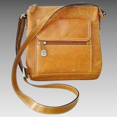 Giani Bernini Light Brown Cognac Saddle Bag color Shoulder Bag Crossbody bag Purse