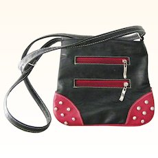Red and Black Shoulder Bag Cross Body Purse