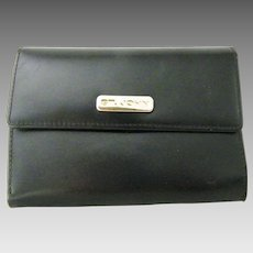 St. John Womens Black Tri Fold Wallet
