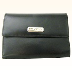 St. John Womens Black Tri Fold Wallet