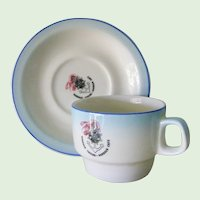 Harbour Tavern or Harbour Cafe Restaurant Ware Coffee Cup and Saucer, South Africa