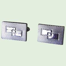Modernist Silvertone Cuff Links