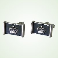 Vintage Hickok Crown Cufflinks