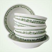 6 Buffalo China Restaurant Ware Bowls Kenmore Pattern